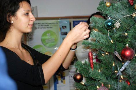 Studenții căminiști sibieni au intrat în atmosfera Crăciunului