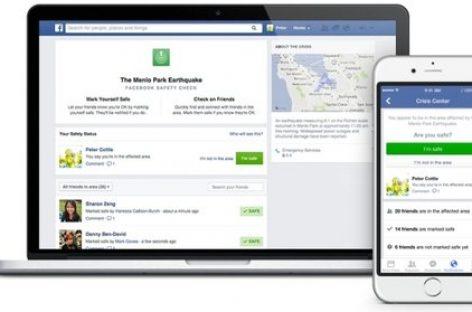 """Facebook a activat funcţia """"Safety Check"""""""