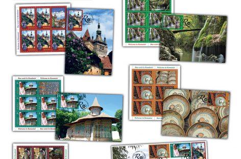 O nouă emisiune filatelică. Frumusețile României, ilustrate pe timbre