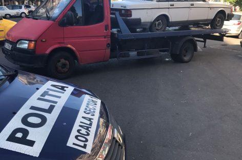 Maşinile abandonate în Sectorul 1, ridicate de primărie
