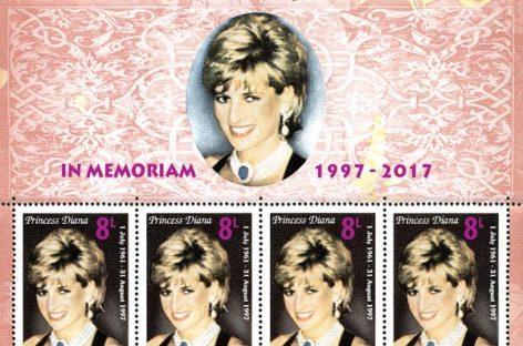 """Emisiune filatelică în amintirea Prinţesei Diana – """"Prinţesa Inimilor"""""""