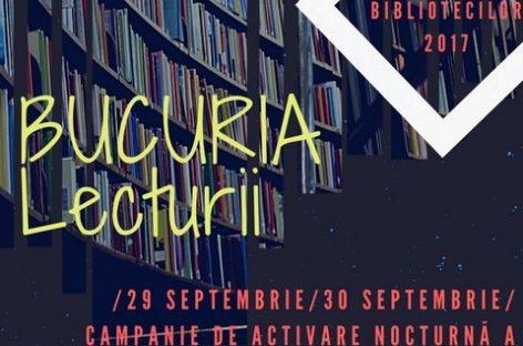 Noaptea albă a bibliotecilor, între 29 şi 30 septembrie