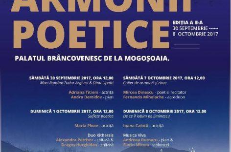 Armonii Poetice la Palatul Brâncovenesc din Mogoşoaia