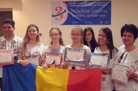 Opt premii pentru elevii români la Olimpiada Internaţională de Limba Franceză
