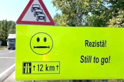 A apărut un indicator rutier inedit pe care nu l-aţi mai văzutpână acum
